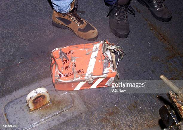 The Cockpit Voice Recorder From Egyptair Flight 990 Is Prepared For Transportation To Washington DC For Evaluation By The Ntsb November 131999 The...