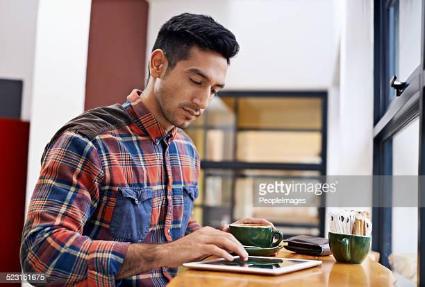 The coffee shop has free wifi