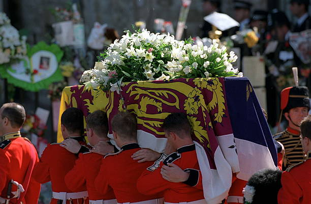 Princess Diana Funeral Flowers On Coffin