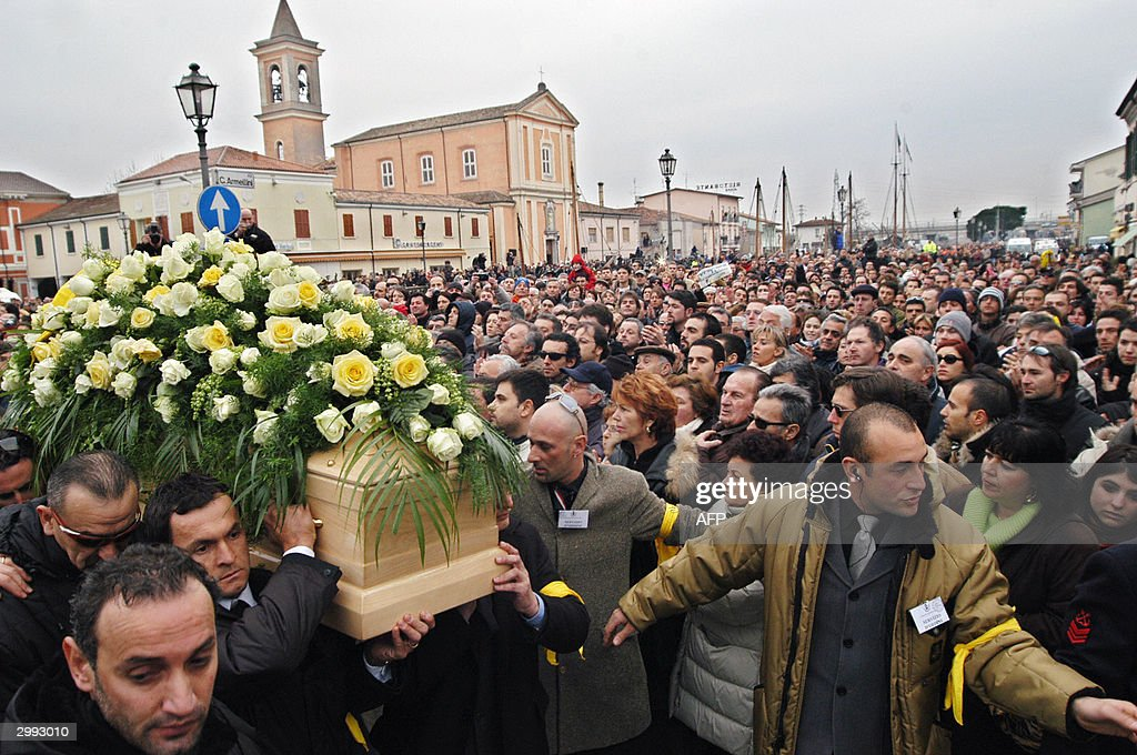 The coffin of Italian cycling champion M : News Photo