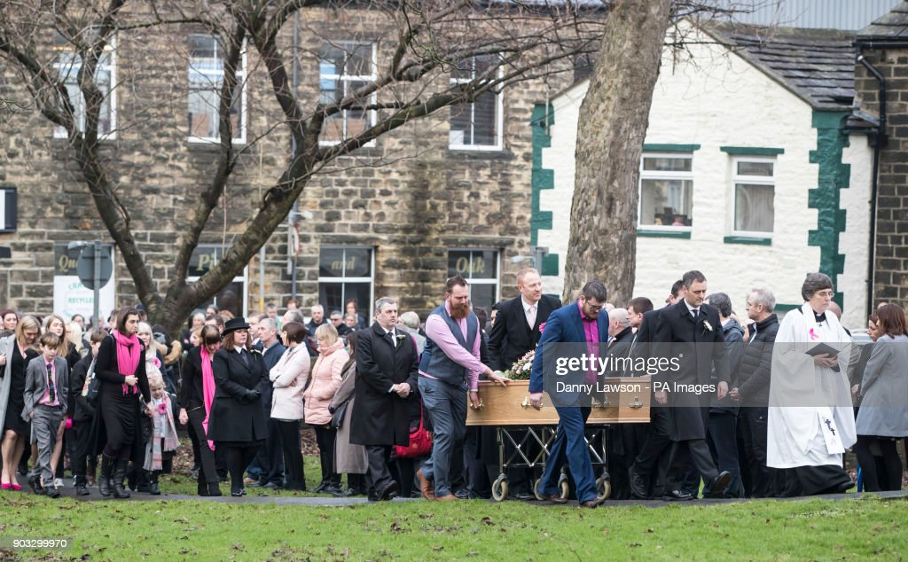 The Coffin Of Jodie Willsher Who Was Stabbed To Death As She Worked In A