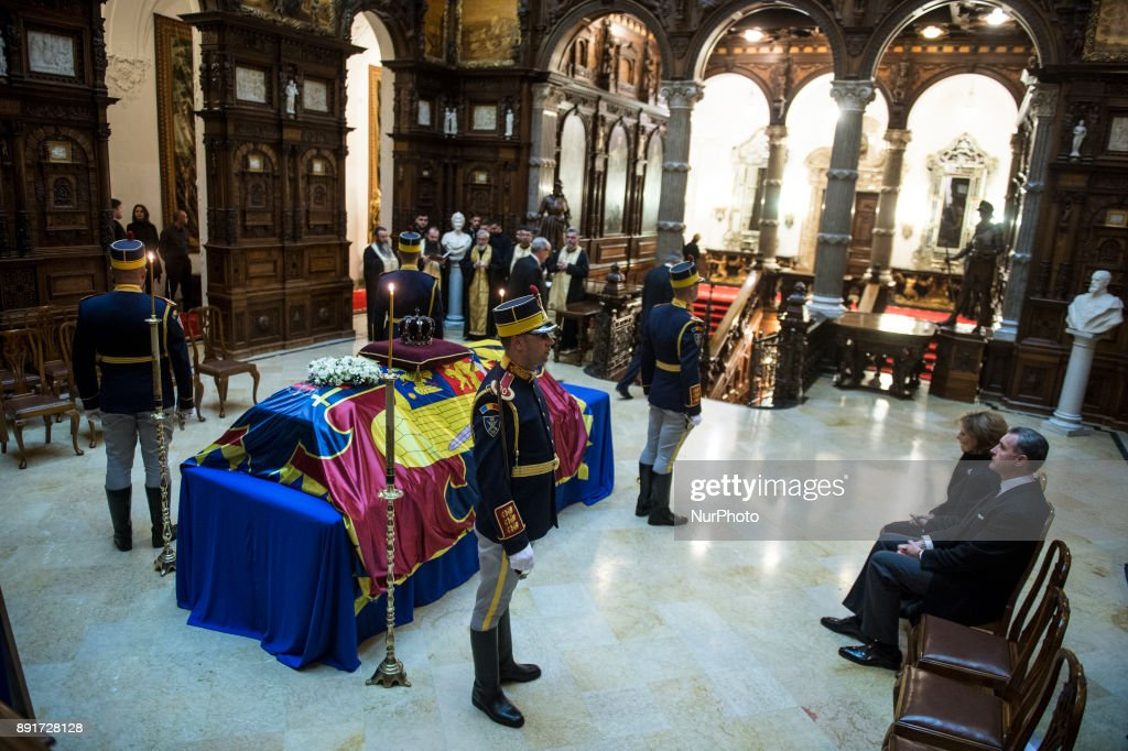 Funeral of King Michael I in Peles Castle : News Photo