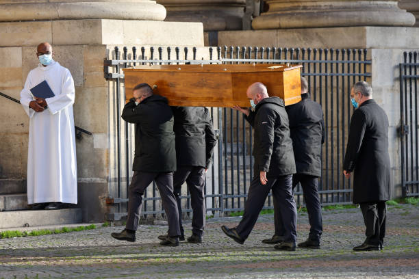 FRA: Marielle De Sarnez : Funerals At Eglise Saint Sulpice In Paris