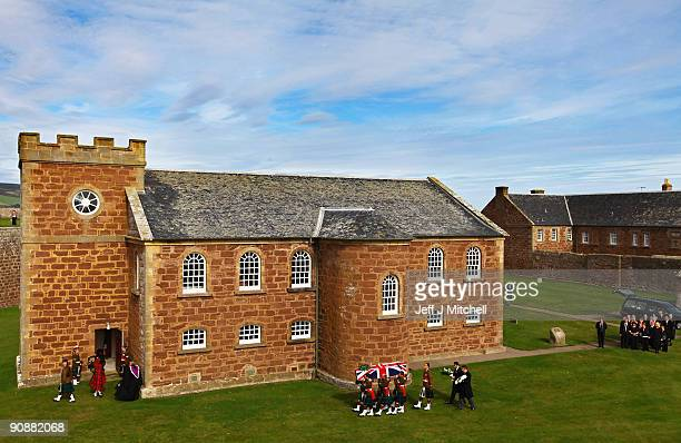 The coffin of Sergeant Stuart Millar is taken from the regimental kirk at Fort George on September 17 2009 in Inverness Scotland Sergeant Stuart...