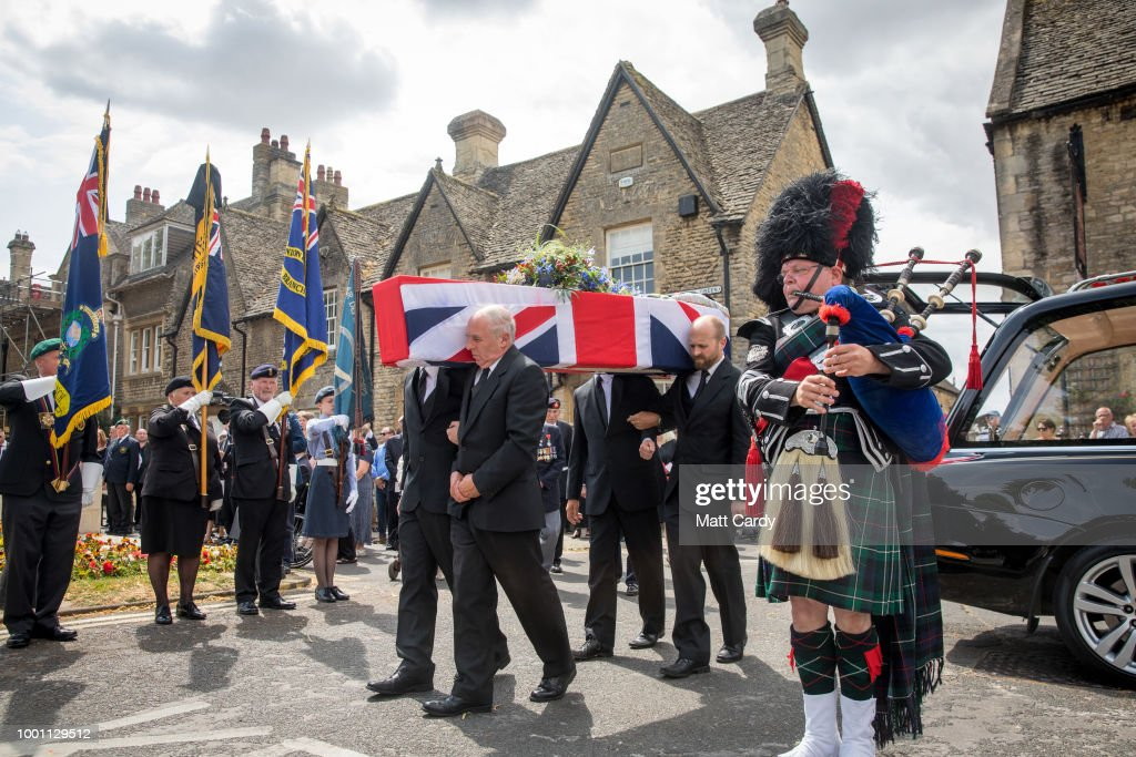 Funeral Of D-Day Veteran Patrick Churchill Takes Place In Witney