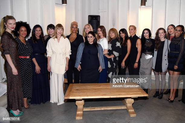 The cofounders of Jane Club attend the Jane Club Launch Party on April 19 2018 in Los Angeles California
