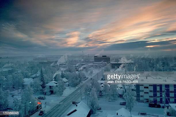 The cold in Fairbanks in Alaska United States