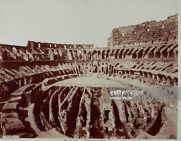 The Coliseum in Rome the site of gladiatorial combats and other spectacles in Ancient Rome 1880s1890s