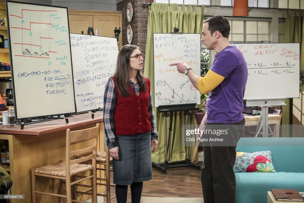 'The Collaboration Fluctuation' -- Pictured: Amy Farrah Fowler (Mayim Bialik) and Sheldon Cooper (Jim Parsons). Leonard, Penny and Raj adjust to their new living arrangement, and Sheldon takes an interest in Amy's work, on THE BIG BANG THEORY, Thursday, March 30 (8:00-8:31 PM, ET/PT), on the CBS Television Network.