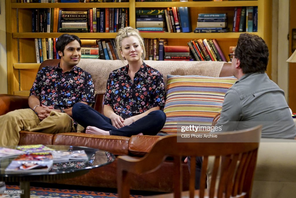 'The Collaboration Fluctuation' -- Pictured: Rajesh Koothrappali (Kunal Nayyar) and Penny (Kaley Cuoco). Leonard, Penny and Raj adjust to their new living arrangement, and Sheldon takes an interest in Amy's work, on THE BIG BANG THEORY, Thursday, March 30 (8:00-8:31 PM, ET/PT), on the CBS Television Network.