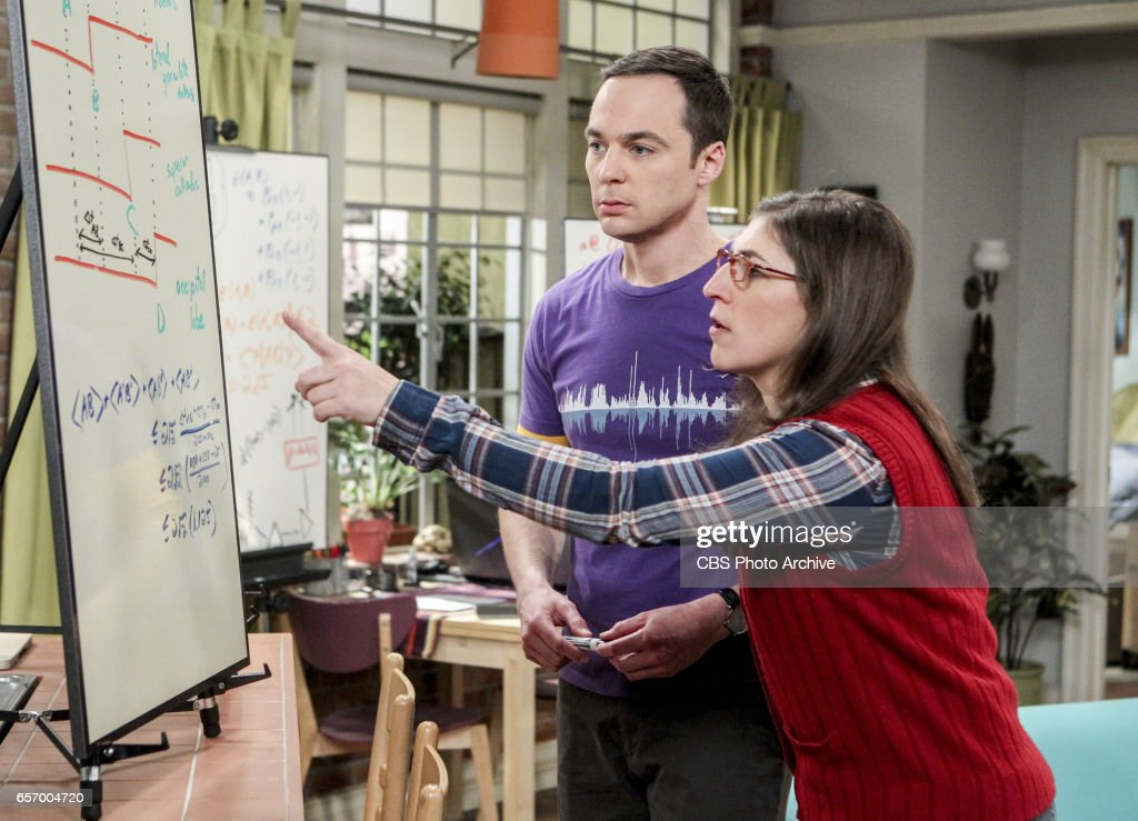'The Collaboration Fluctuation' -- Pictured: Sheldon Cooper (Jim Parsons) and Amy Farrah Fowler (Mayim Bialik). Leonard, Penny and Raj adjust to their new living arrangement, and Sheldon takes an interest in Amy's work, on THE BIG BANG THEORY, Thursday, March 30 (8:00-8:31 PM, ET/PT), on the CBS Television Network.