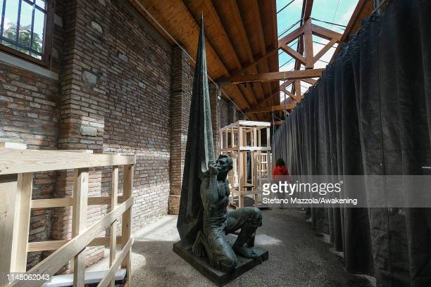 The collateral pavilion of Catalonia, during the press previews of the 58th International Art Biennale on May 08, 2019 in Venice, Italy. The 58th...