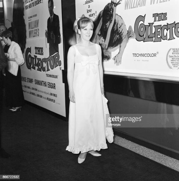 The Collector 1965 film premiere at the Columbia Theatre London Wednesday 13th October 1965 picture shows Julia Foster actress