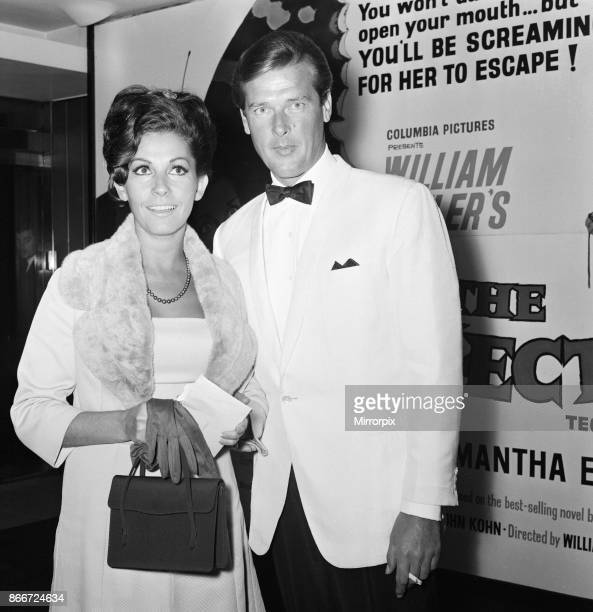 The Collector 1965 film premiere at the Columbia Theatre London Wednesday 13th October 1965 picture shows Roger Moore and partner Luisa Mattioli