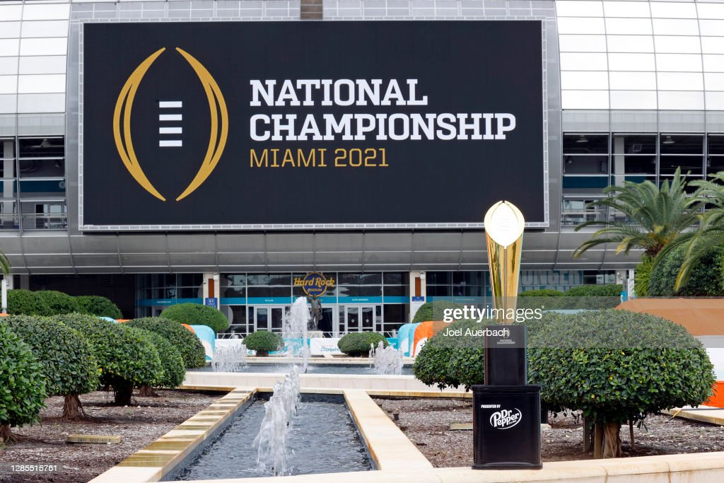 The College Football Playoff National Championship Trophy Tours South Florida : News Photo