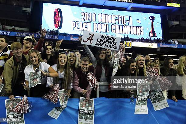 the College Football Playoff Semifinal at the ChickfilA Peach Bowl between the Washington Huskies and the Alabama Crimson Tide Alabama defeated...