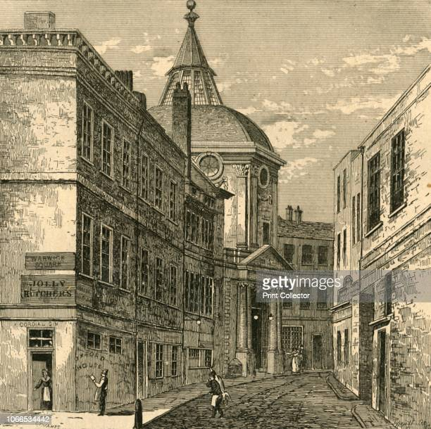 The College of Physicians, Warwick Lane, 1868', . View of the Royal College of Physicians in the City of London. The Cutlerian Theatre in Warwick...