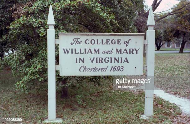 The College of William and Mary in Williamsburg, Virginia on November 1, 1981.