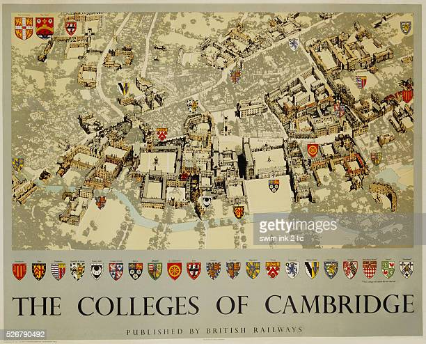 The Colleges of Cambridge Poster by Fred Taylor