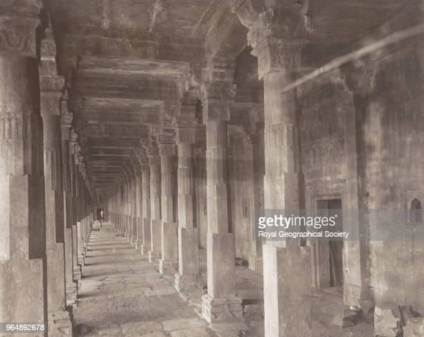 The collonade ouside Hoshang Shah's tomb - Mandu, India, 1912.
