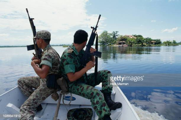 The Colombian army seizes the Isla de Antesia property of drug trafficker and Medellin cartel member Jose El Mexicano Gonzalo Rodriguez Gacha...