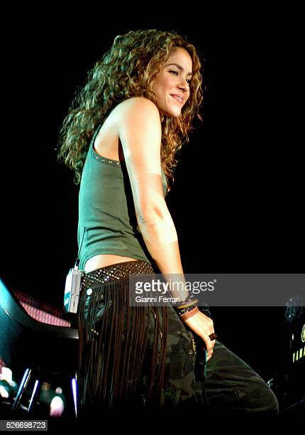 """The Colombian singer and songwriter Shakira performing during the """"40th Anniversary of the 40 Principales"""" in the Vicente Calderon Stadium, 17th June..."""