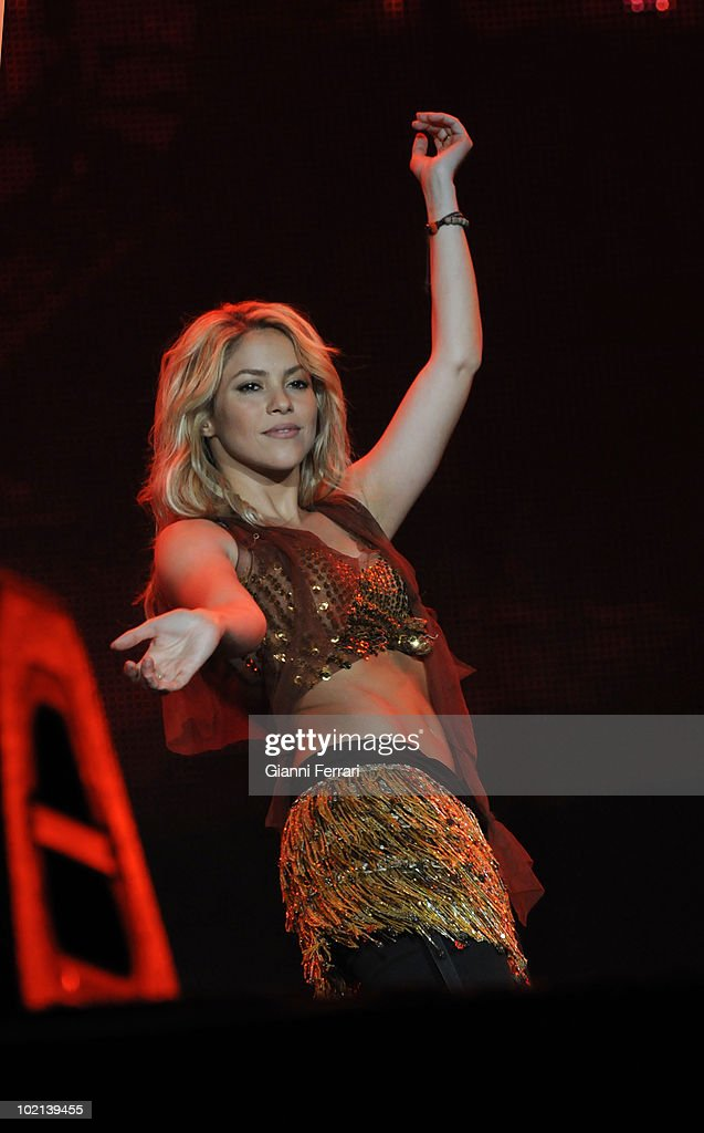 The Colombian singer Shakira during his concert in 'Rock in Rio', 5th Juny 2010, Arganda del Rey, Madrid, Spain.