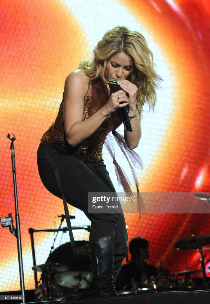 The Colombian singer Shakira during his concert in 'Rock in Rio', 5th Juny 2010, Arganda del Rey, Madrid, Spain.