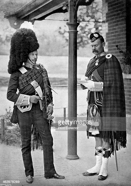 The Colonel of the 1st Battalion Argyll and Sutherland Highlanders 1896 LieutenantColonel OC Hannay and SergeantMajor RC Williamson A print from The...
