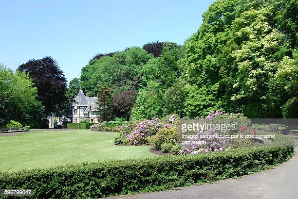 the colonial garden in springtime - laeken stock pictures, royalty-free photos & images