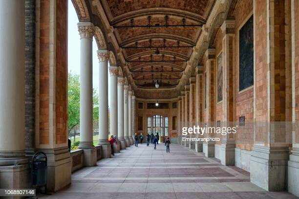 "the colonnades of the ""trink halle""building,baden baden. - emreturanphoto stock pictures, royalty-free photos & images"