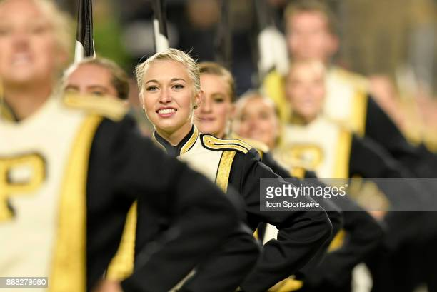 The color guard performs during the Big Ten conference game between the Purdue Boilermakers and the Nebraska Cornhuskers on October 28 at RossAde...