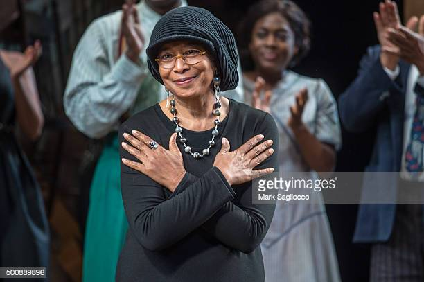 'The Color Purple' author Alice Walker attends the 'The Color Purple' Broadway Opening Night at The Bernard B Jacobs Theatre on December 10 2015 in...