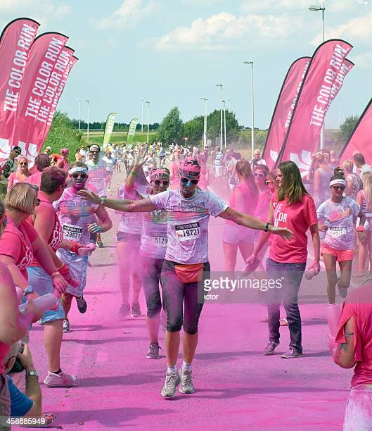 the color run in utrecht - participant stock pictures, royalty-free photos & images
