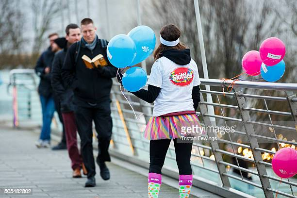 The Color Run Presented by Skittles known as the 'Happiest 5K on the Planet' cheers up commuters in central London giving them something to smile...