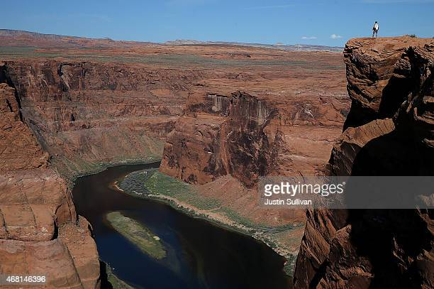 The Colorado River wraps around Horseshoe Bend on March 30 2015 in Page Arizona As severe drought grips parts of the Western United States a below...