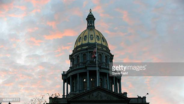The Colorado State Capitol dome restoration is nearly complete and the final touches to the gold are being applied this week by workers who rappel...