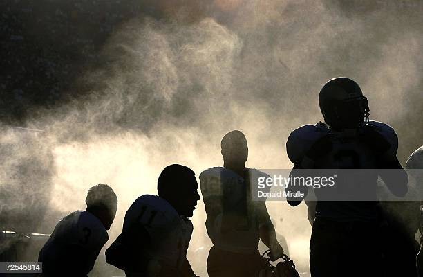 The Colorado State Rams bench sits in the heat during their game against the USC Trojans against on September 11 2004 at the Coliseum in Los Angeles...