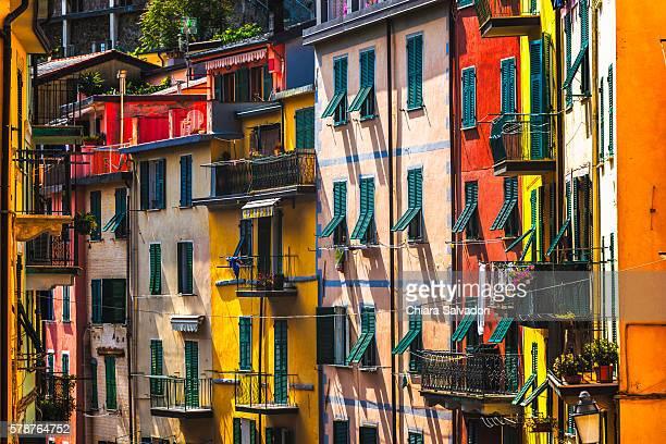 The colorful houses of Riomaggiore, Liguria. Italy.