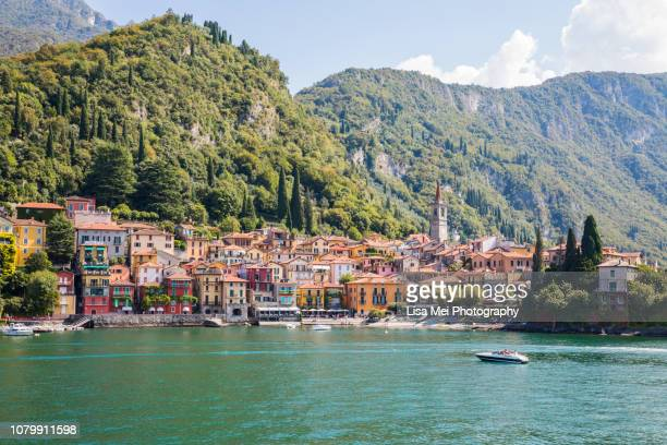 the colorful varenna - lombardy stock pictures, royalty-free photos & images