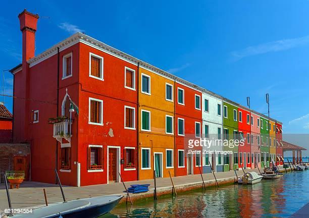 The colorful village of Burano in Veneto, Italy