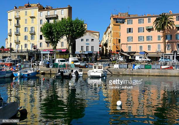 the colorful waterfront of ajaccio, corsica - ajaccio stock photos and pictures
