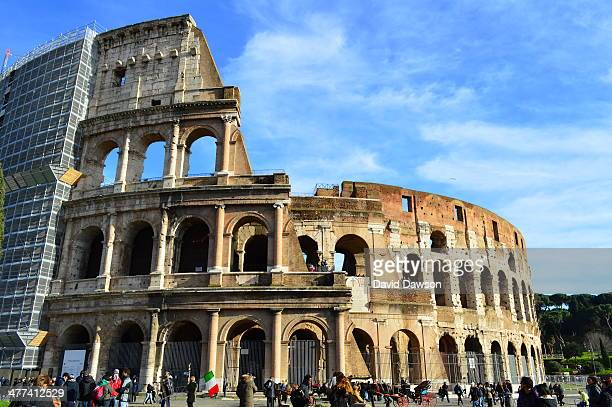 CONTENT] The Colosseum Amphitheatre in Rome Italy Also known as the Flavian Amphitheatre an elliptical amphitheatre built of concrete and stone The...
