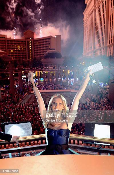 The Colosseum at Caesars Palace headliner Celine Dion during the closing night party for IPW 2013 at the Garden for the Gods pool at Caesars Palace...