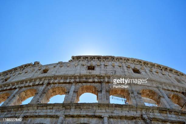 the colosseum in rome. - catholicism stock pictures, royalty-free photos & images