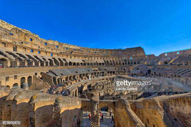 The Colosseum is seen from inside on October 31 2017 in Rome Italy Rome is one of the most popular tourist destinations in the World