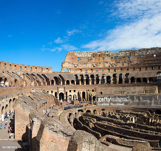 the colosseum. - ancient rome stock pictures, royalty-free photos & images