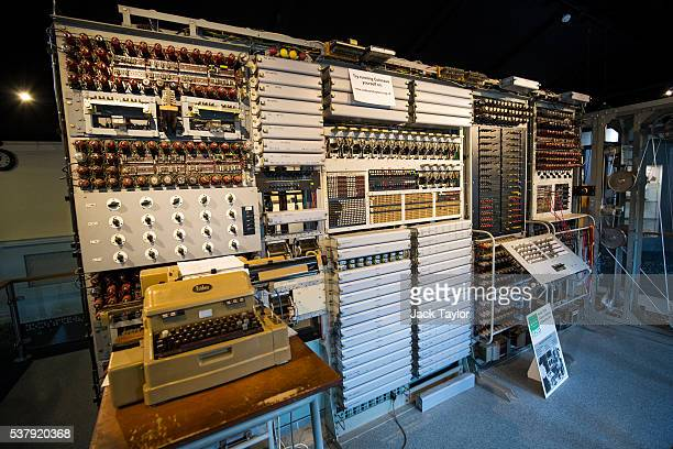The Colossus computer used to decode cypher during World War II at Block H Bletchley Park pictured at The National Museum of Computing on June 3 2016...