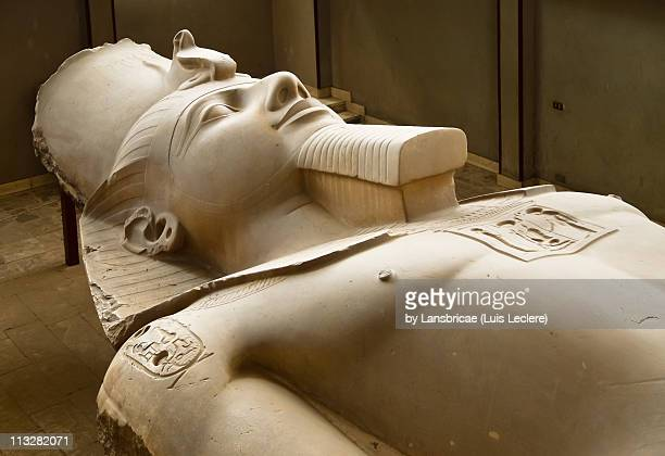 the colossus of rameses ii in memphis - rameses ii stock photos and pictures