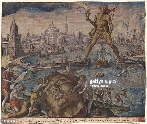 The Colossus of Rhodes After Maarten van Heemskerck 1572 Found in the collection of the Bibliothèque municipale de Lyon